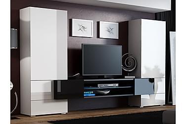 Tori TV-möbelset & LED 278x46x162 cm