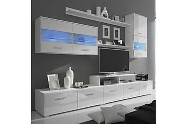 Troccoli TV-möbelset 250 cm med LED 7 Delar