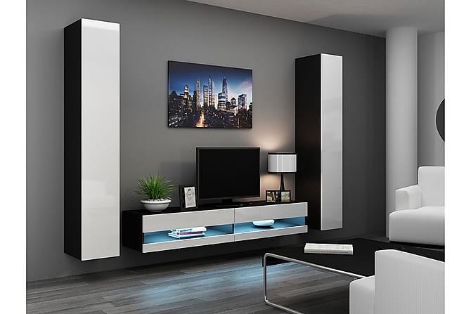Vigo TV-möbelset 260x40x180 cm - Vit - Möbler - TV- & Mediamöbler - TV-möbelset