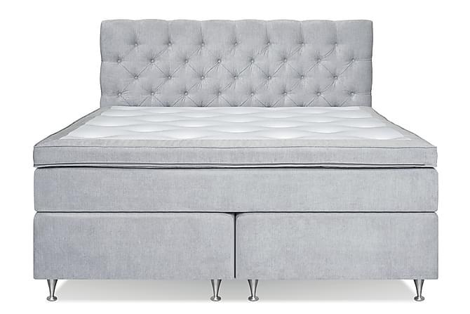 Joluma Komplett Sängpaket Kontinentalsäng 160x200 - Ljusgrå - Möbler - Sängar - Dubbelsängar