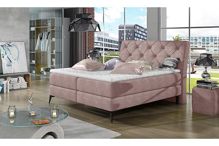 Mieza Ramsäng 140x200 cm - Rosa - Möbler - Sängar - Dubbelsängar