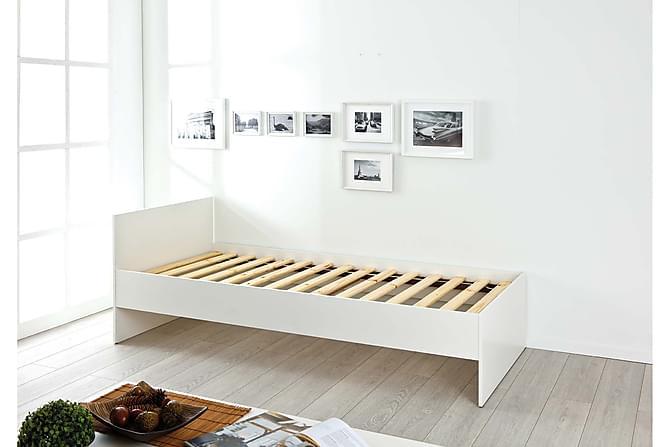 Naji Sängram 90x200 - Vit - Möbler - Sängar - Enkelsängar