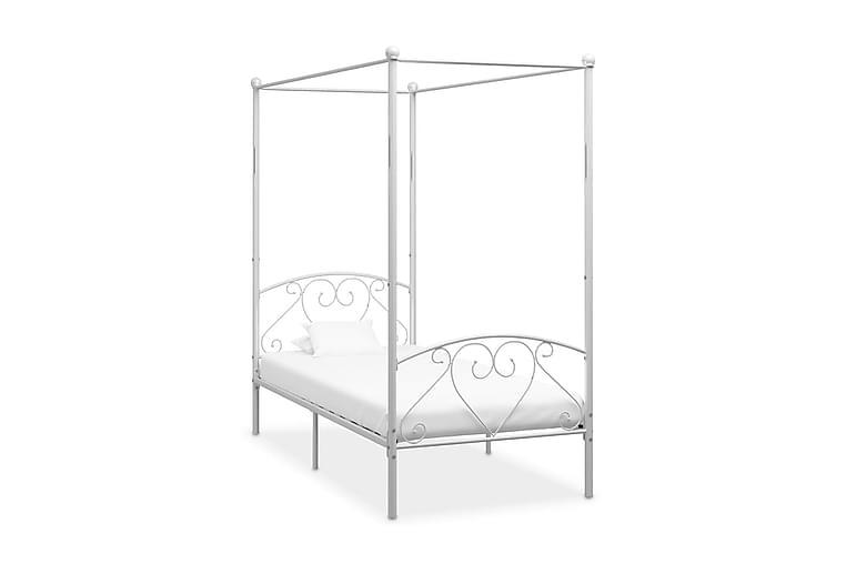 Himmelsäng vit metall 120x200 cm - Vit - Möbler - Sängar - Himmelsäng