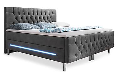 Chester Sängpaket 140x200 LED-belysning Sammet