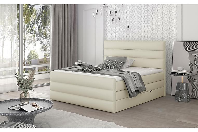 Ecande Sängpaket 180x200 cm - Läder/Beige - Möbler - Sängar - Komplett sängpaket