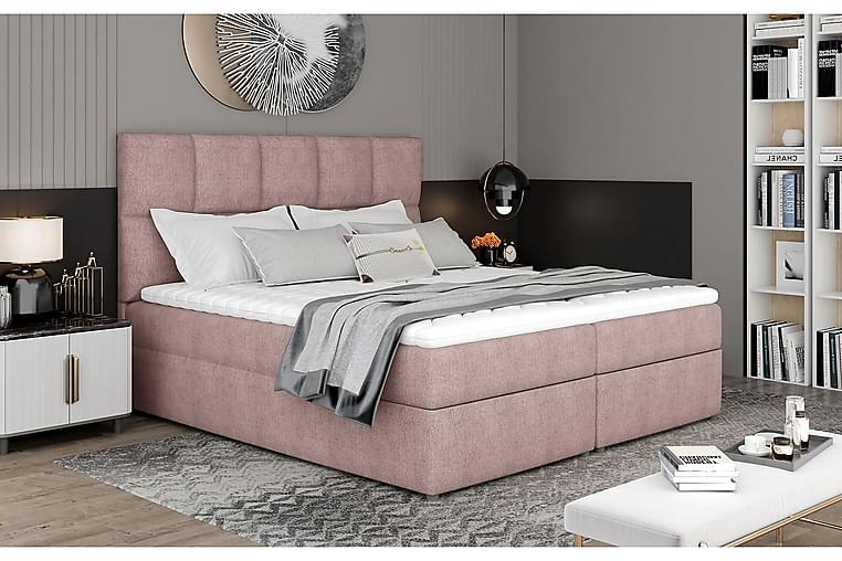 Glossa Sängpaket 160x200 cm - Ljusrosa - Möbler - Sängar - Komplett sängpaket