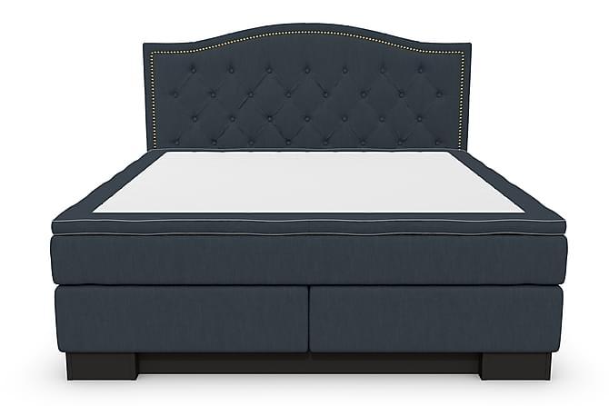 Hilton Lyx Komplett Sängpaket 180x200 Amiral Sänggavel Toppa - Mörkblå - Möbler - Sängar - Komplett sängpaket