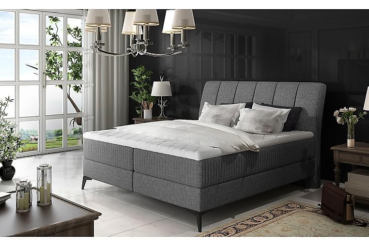 Hymana Sängpaket 180x200 cm - Grå - Möbler - Sängar - Komplett sängpaket