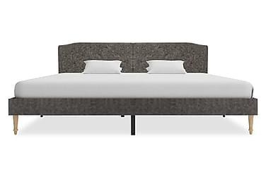 Säng med memoryskummadrass mörkgrå tyg 180x200 cm