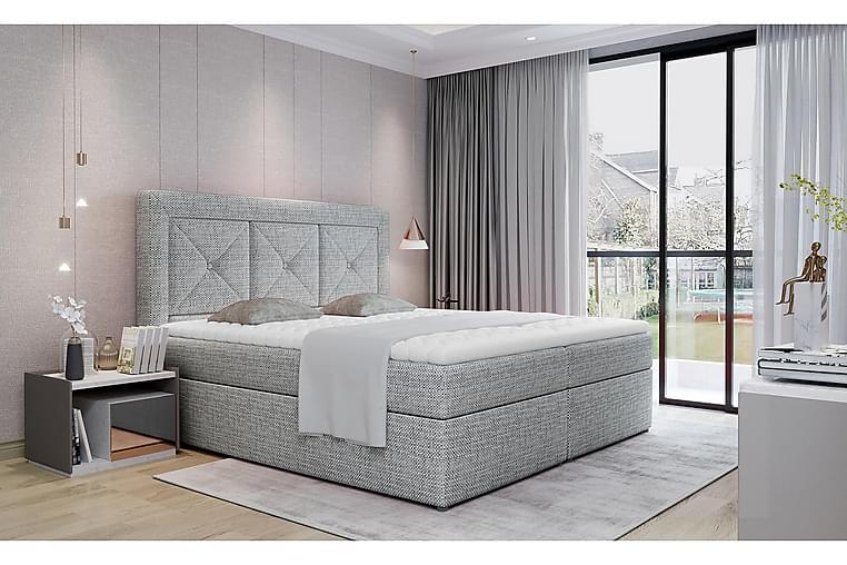 Sidria Sängpaket 160x200 cm - Grå - Möbler - Sängar - Komplett sängpaket