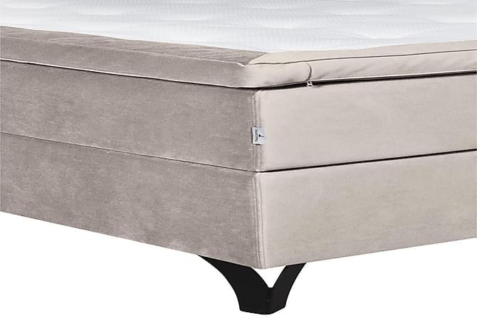 Swanströms Sängpaket 180x200 cm - Ljusgrå/Sammet - Möbler - Sängar - Komplett sängpaket