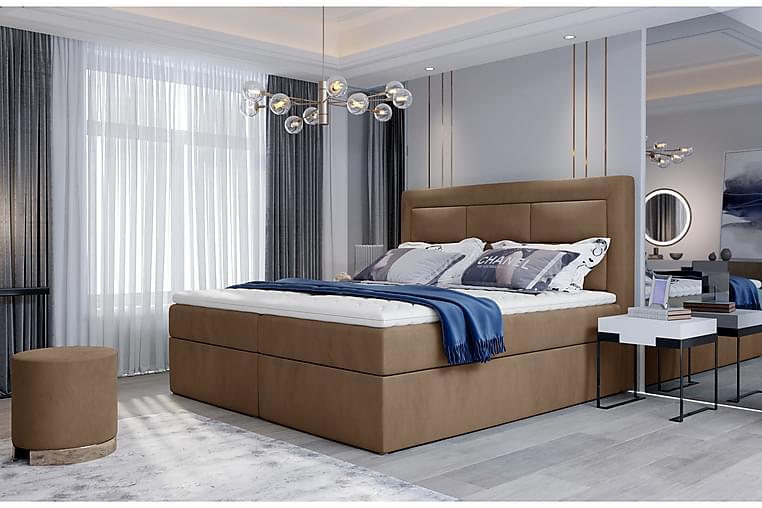 Vivera Sängpaket 140x200 cm - Ljusbrun - Möbler - Sängar - Komplett sängpaket