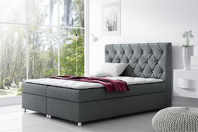 Alida Kontinentalsäng 180x200 med Förvaring - Mörkgrå - Möbler - Sängar - Kontinentalsängar