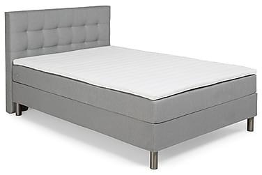 George Komplett Sängpaket 140cm Quiltad Sänggavel | Ljusgrå