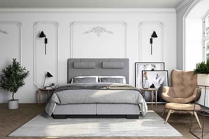 Hilton Lyx Kontinentalsäng 180x200 - Ljusgrå - Möbler - Sängar - Kontinentalsängar