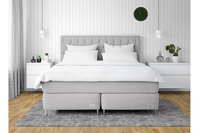 InBed Classic Oxford Sängpaket 160x210 Medium - Ljusgrå - Möbler - Sängar - Kontinentalsängar