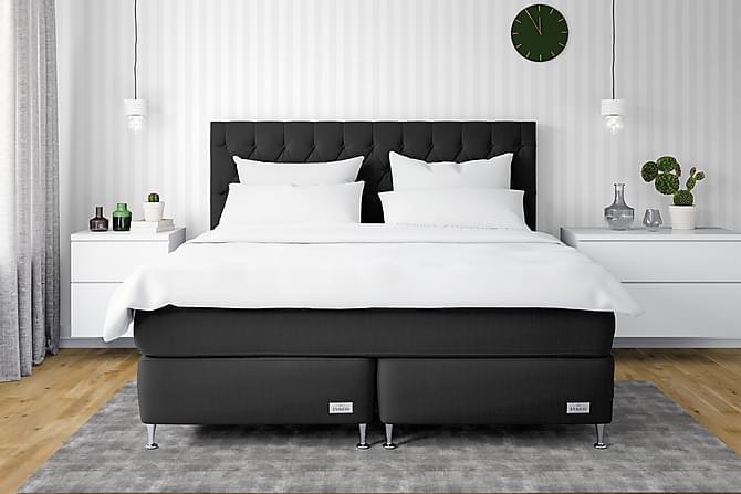 InBed Classic Oxford Sängpaket 180x200 Medium - Svart - Möbler - Sängar - Kontinentalsängar