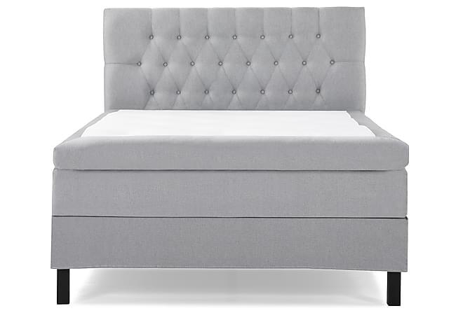 Lucky Komplett Sängpaket 120x200 Polyeter Diamant Sänggavel - Ljusgrå - Möbler - Sängar - Kontinentalsängar