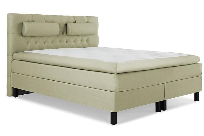 Lucky Komplett Sängpaket 180x200 Memory Diamant Sänggavel - Nackkudde Stor Grön - Möbler - Sängar - Kontinentalsängar