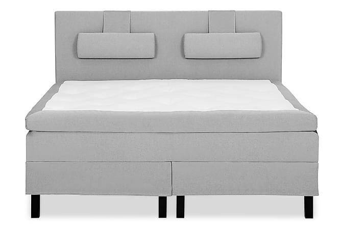 Lucky Sängpaket 150x200 Skum Slät Sänggavel - Grå - Möbler - Sängar - Kontinentalsängar