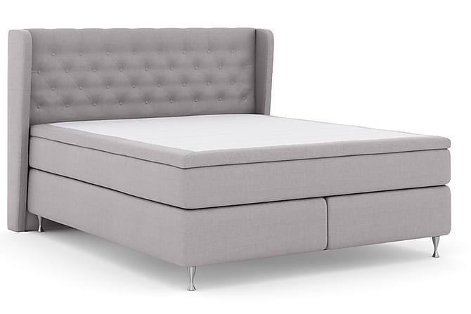 Select No 5 Komplett Sängpaket 210x210 Medium Watergel - Ljusgrå/Silver - Möbler - Sängar - Kontinentalsängar