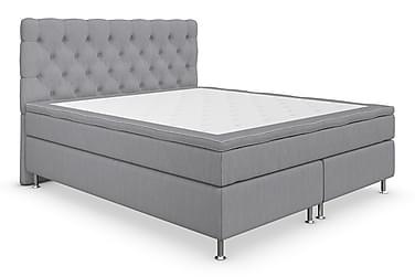 Superior Lyx Kontinentalsäng 180x200 cm Ljusgrå | Silver Ben