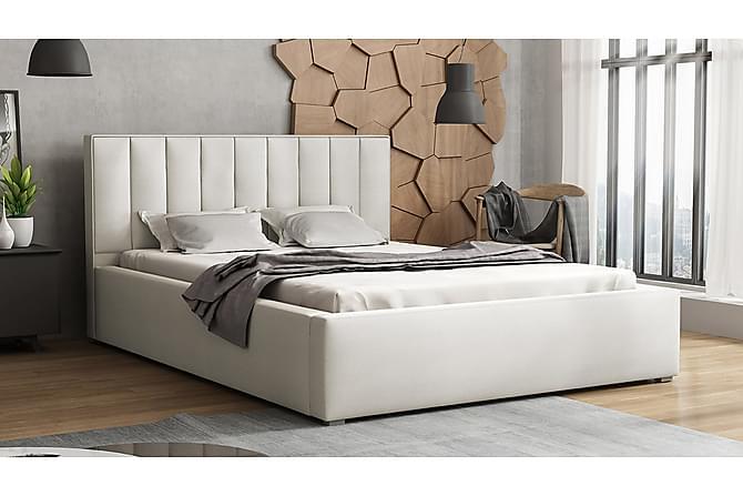 Ideal Ramsäng 223x180x93 cm - Beige|Grå|Vit - Möbler - Sängar - Ramsäng & resårbotten