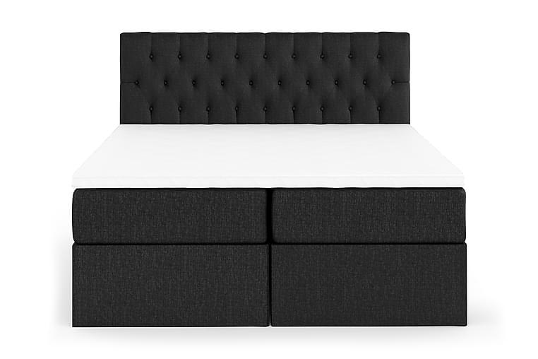 Boxy Komplett Komplett Sängpaket Box Bed 180x200 cm - Svart/Grå - Möbler - Sängar - Sängar med förvaring