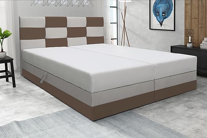 Chess Sängpaket 180x200 med Förvaring - Beige/Brun - Möbler - Sängar - Sängar med förvaring