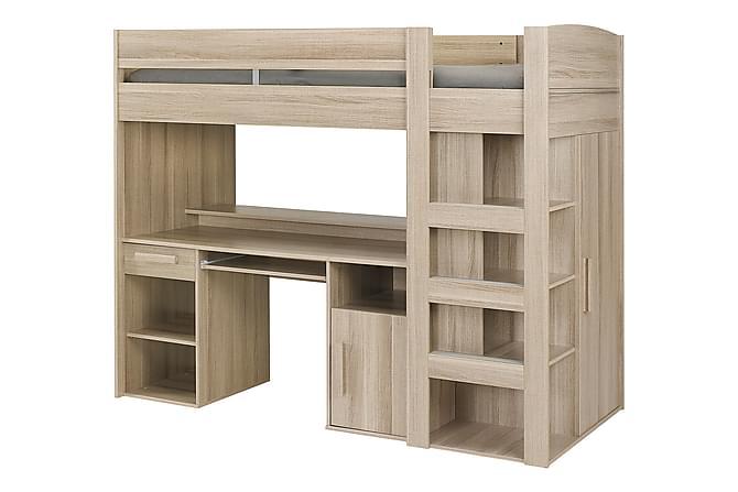 Fortine Loftsäng 90x200 - Natur - Möbler - Sängar - Sängar med förvaring