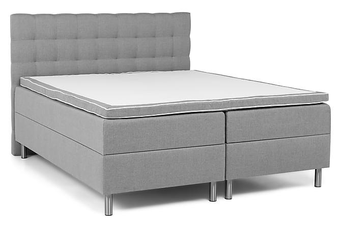 Montana Komplett Sängpaket 180x200 - Ljusgrå - Möbler - Sängar - Dubbelsängar
