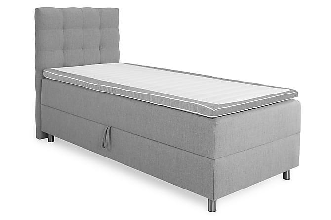 Montana Komplett Sängpaket 90x200 - Ljusgrå - Möbler - Sängar - Enkelsängar