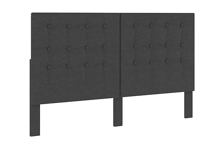 Huvudgavel mörkgrå tyg 180x200 cm - Grå - Möbler - Sängar - Sänggavel