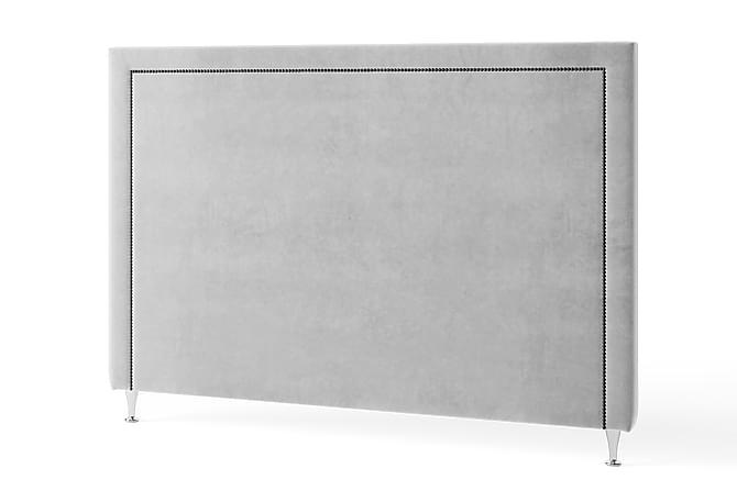 Inbed Sänggavel 105 cm Grafitnitar Sammet - Ljusgrå - Möbler - Sängar - Sänggavel