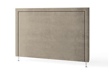 Inbed Sänggavel 180 cm Grafitnitar Sammet