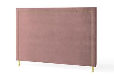 Inbed Sänggavel 90 cm Guldnitar Sammet