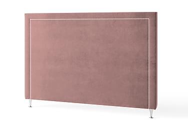 Inbed Sänggavel 90 cm Silvernitar Sammet