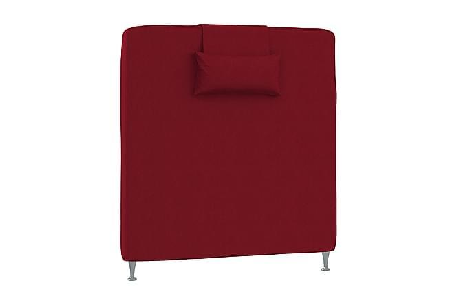 Inbed Sänggavel 90 cm Slät med Kuddar - Röd - Möbler - Sängar - Sänggavel