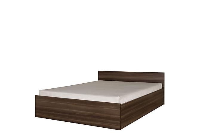 Inez Säng & madrass 207x167x71 cm - Brun - Möbler - Sängar - Sängram & sängstomme