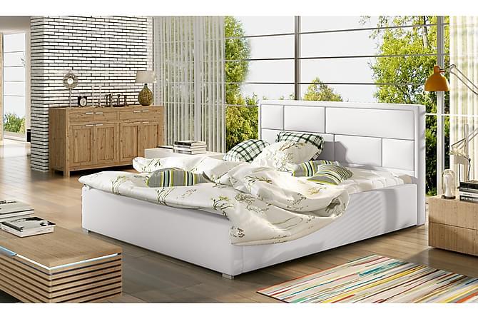 Leganiel Sängram 160x200 cm - Vit - Möbler - Sängar - Sängram & sängstomme