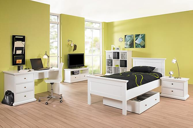 Paris Sängram 90x200 - Vit - Möbler - Sängar - Sängram & sängstomme