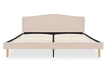 Sängram beige tyg 180x200 cm