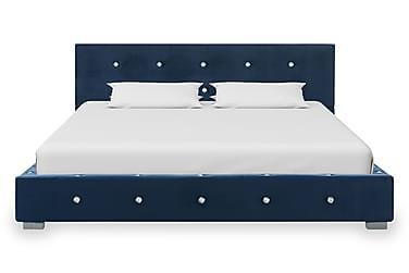 Sängram blå sammet 120x200 cm