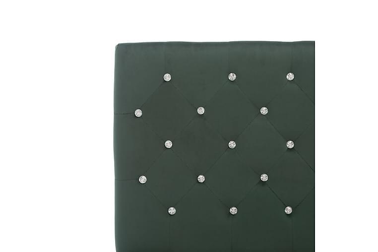 Sängram mörkgrön tyg 180x200 cm - Grön - Möbler - Sängar - Sängram & sängstomme
