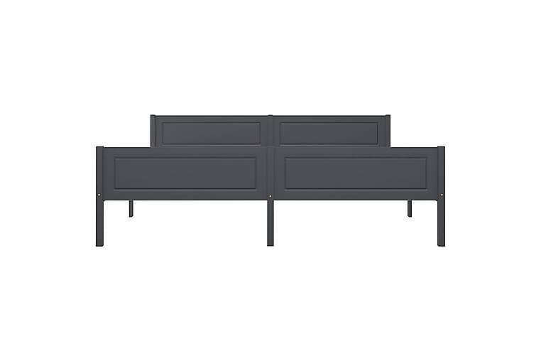 Sängram massiv furu grå 180x200 cm - Grå - Möbler - Sängar - Sängram & sängstomme