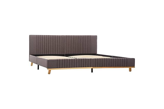 Sängram taupe tyg 160x200 cm - Brun - Möbler - Sängar - Sängram & sängstomme