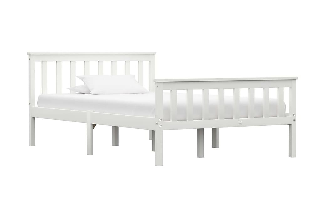 Sängram vit massiv furu 120x200 cm - Vit - Möbler - Sängar - Sängram & sängstomme