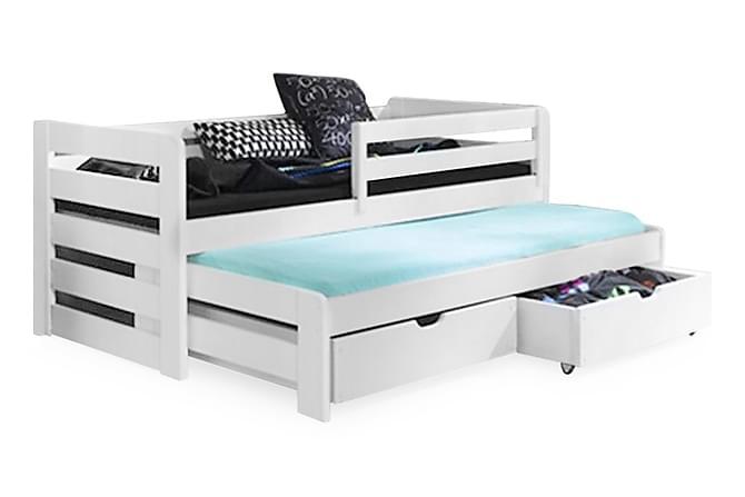 Sibel Säng 80x180 med Extrasäng och Förvaring - Vit - Möbler - Sängar - Enkelsängar