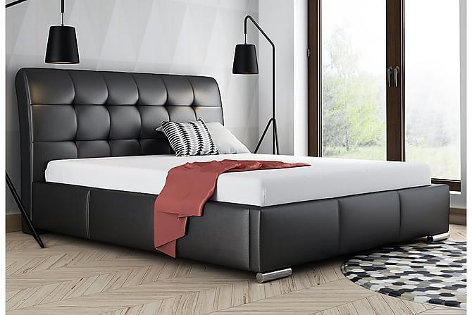 Stavanger Säng med Förvaring 160x200 - Svart - Möbler - Sängar