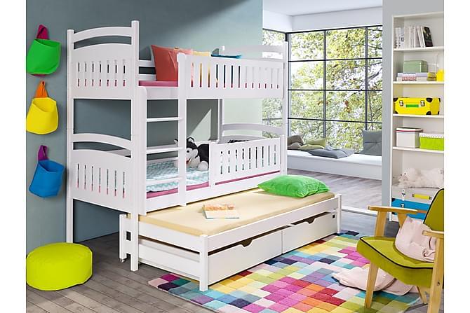 Alea Våningssäng 90x200 med Extrasäng och Förvaring 3 Pers - Vit - Möbler - Sängar - Våningssängar